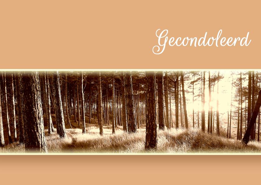 Condoleancekaarten - Condoleancekaart-Forest Memories