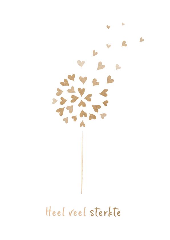 Condoleancekaarten - Condoleancekaart heel veel sterkte met mooie bloem