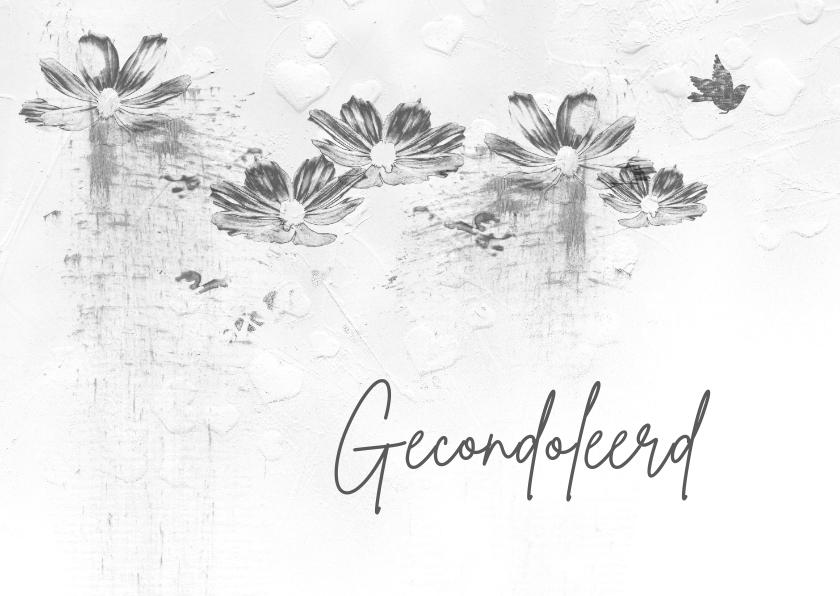 Condoleancekaarten - Condoleancekaart houtskool schets