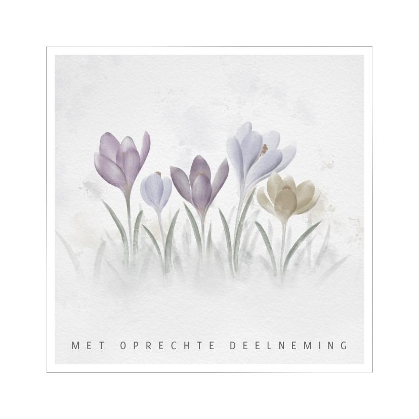 Condoleancekaarten - Condoleancekaart krokussen in kader