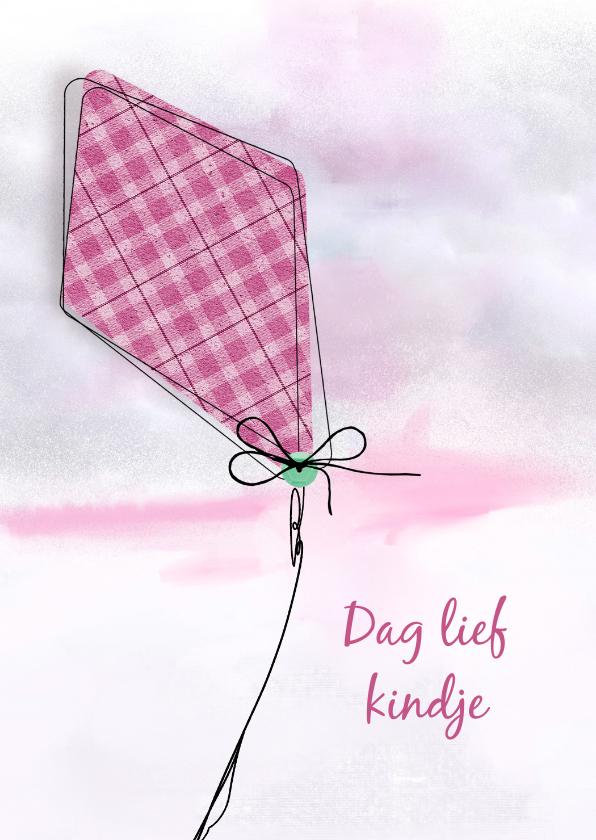 Condoleancekaarten - Condoleancekaart lief kind roze