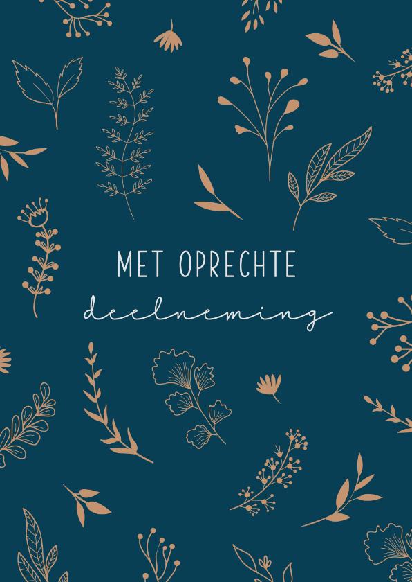 Condoleancekaarten - Condoleancekaart met botanische elementen