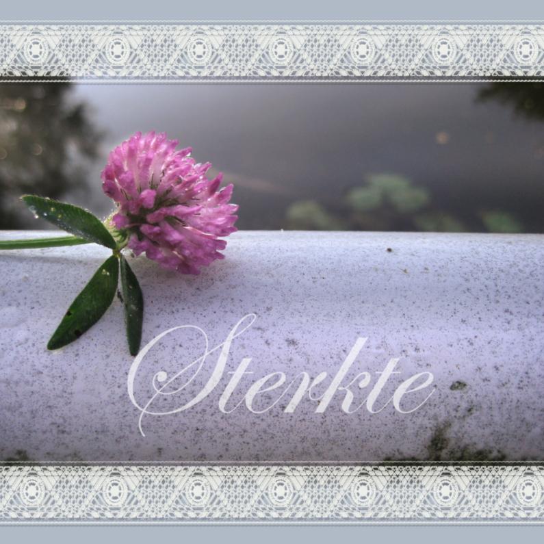 Condoleancekaarten - Condoleancekaart met een klaver