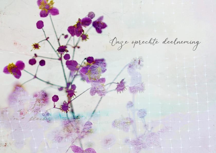 Condoleancekaarten - Condoleancekaart met paarse bloesem