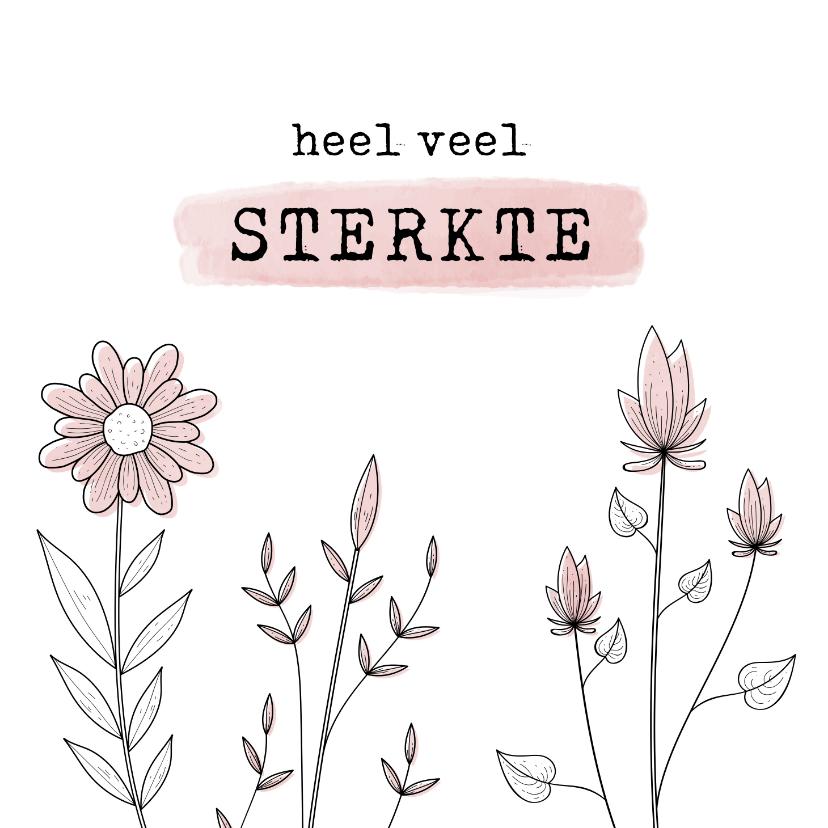 Condoleancekaarten - Condoleancekaart met serene bloemen