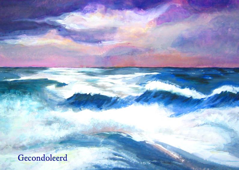 Condoleancekaarten - Condoleancekaart met zee zon en wolken