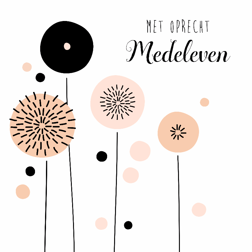 Condoleancekaarten - Condoleancekaart Paardenbloem - PC