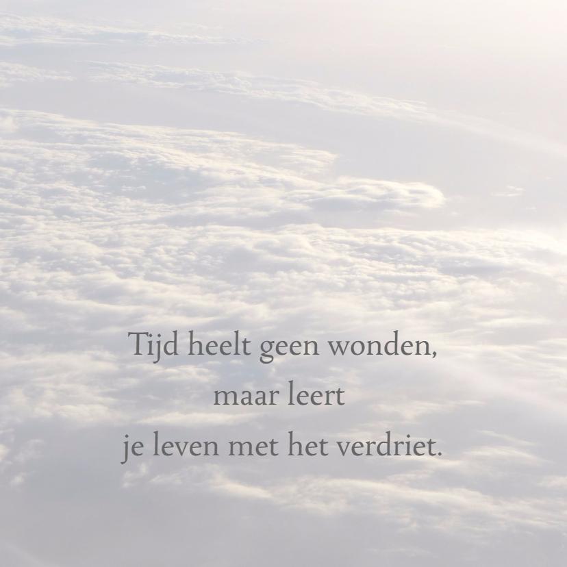 Condoleancekaarten - Condoleancekaart Serene wolken - SK