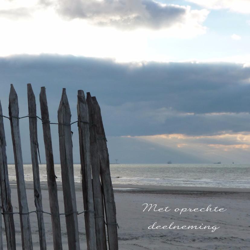 Condoleancekaarten - Condoleancekaart verlaten strand met spreuk - SK