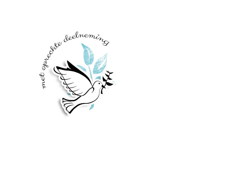 Condoleancekaarten - Condoleancekaart White Dove