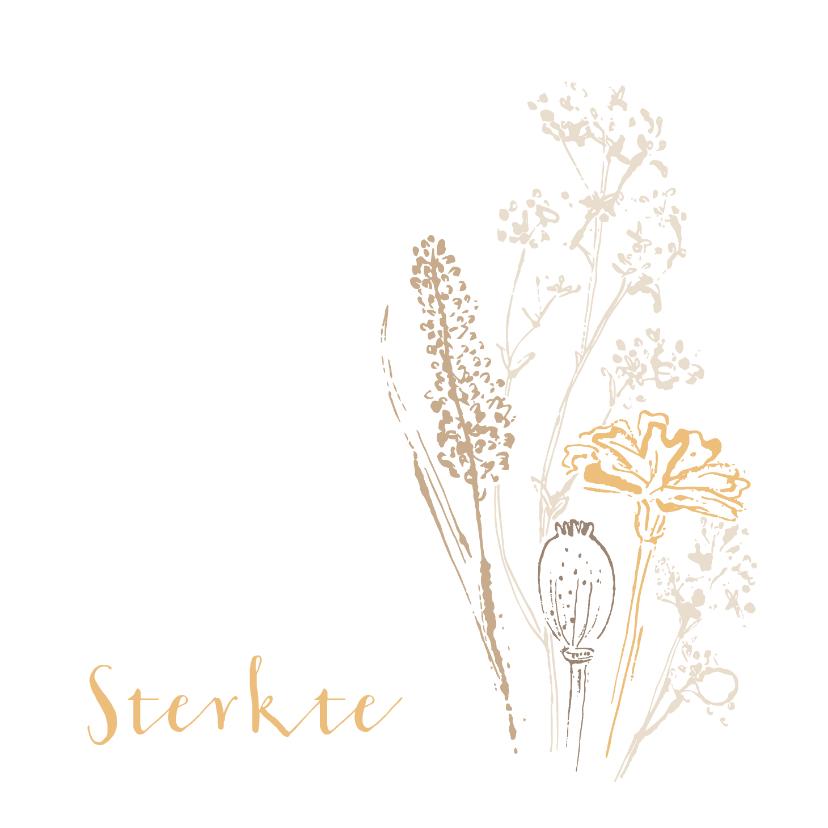 Condoleancekaarten - Condoleancekaart wilde bloemen