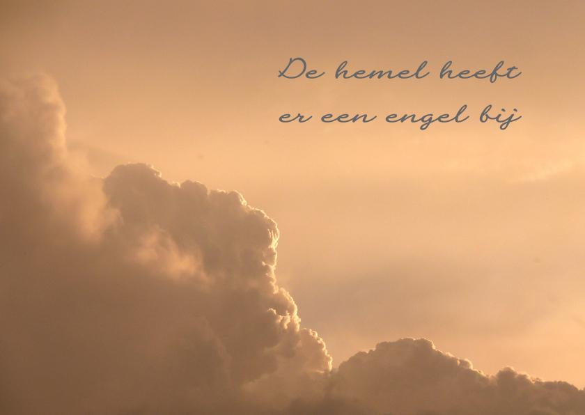 Condoleancekaarten - Condoleancekaart Wolken engel - SK
