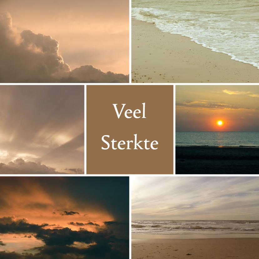 Condoleancekaarten - Condoleancekaart zee en wolken - SK