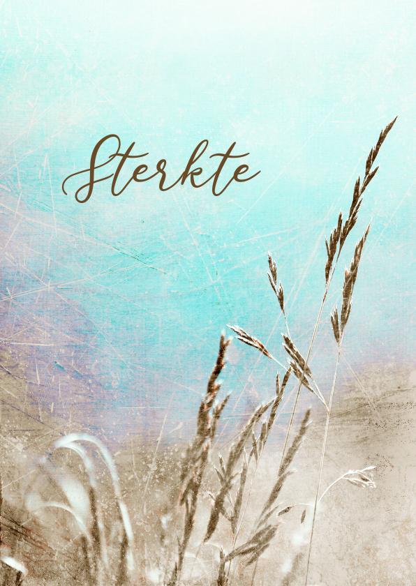 Condoleancekaarten - Deelneming koren gras