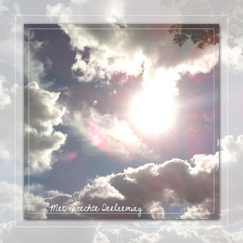 Condoleancekaarten - Deelneming - zon in de wolkenlucht