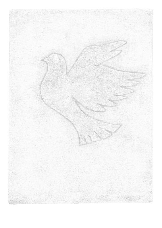 Condoleancekaarten - Duif afdruk