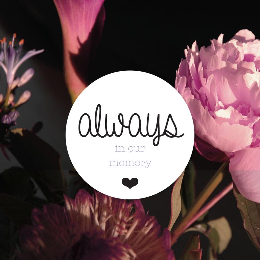 Condoleancekaarten - Engels condoleance bloemen kaart