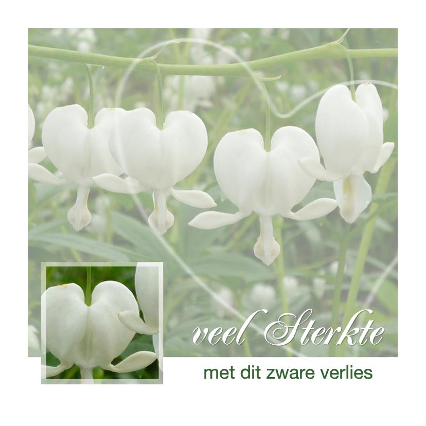 Condoleancekaarten - Gebroken Harten Bloemen