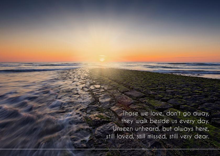 Condoleancekaarten - Gecondoleerd met Engels gedicht