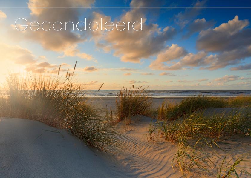 Condoleancekaarten - Gecondoleerd met foto van kust