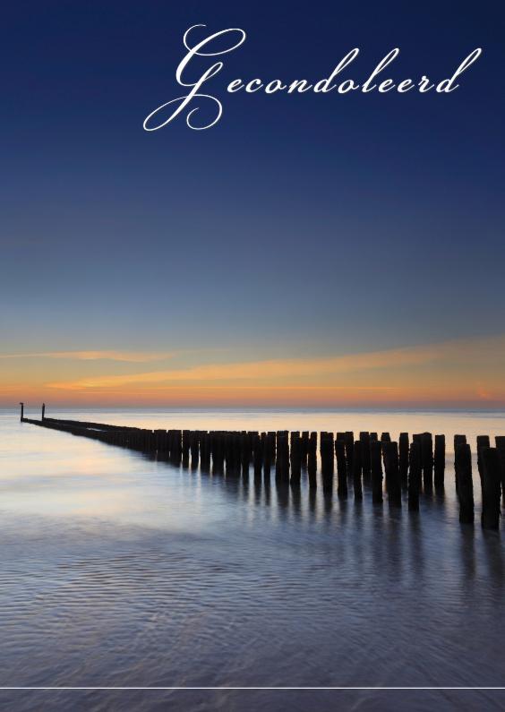 Condoleancekaarten - Golfbreker langs de kust