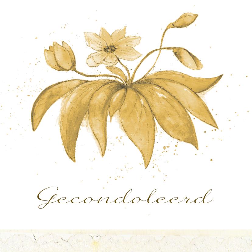Condoleancekaarten - Goude gevoelens voor het verlies van iemand van goud
