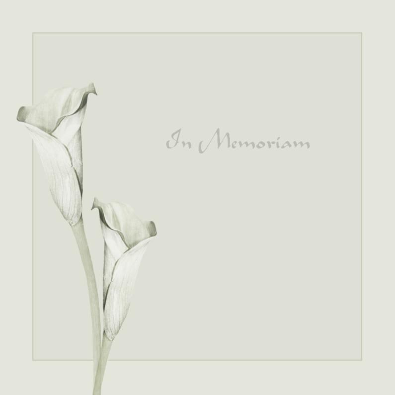 Condoleancekaarten - In Memoriam in zacht grijs