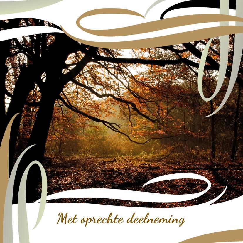Condoleancekaarten - Jugendstil-herfstbos
