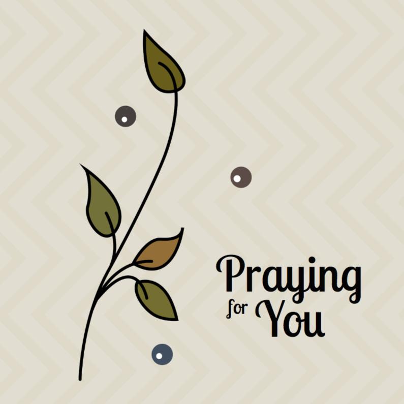 Condoleancekaarten - kaart met bladeren