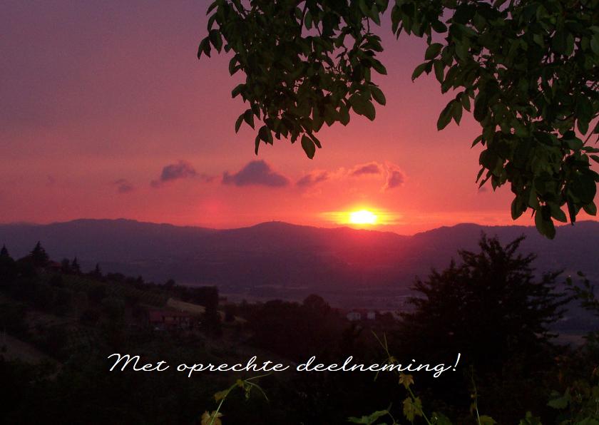 Condoleancekaarten - ondergaande zon