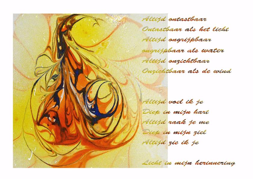 Condoleancekaarten - Ontastbaar Vlam groot  MvM - AW