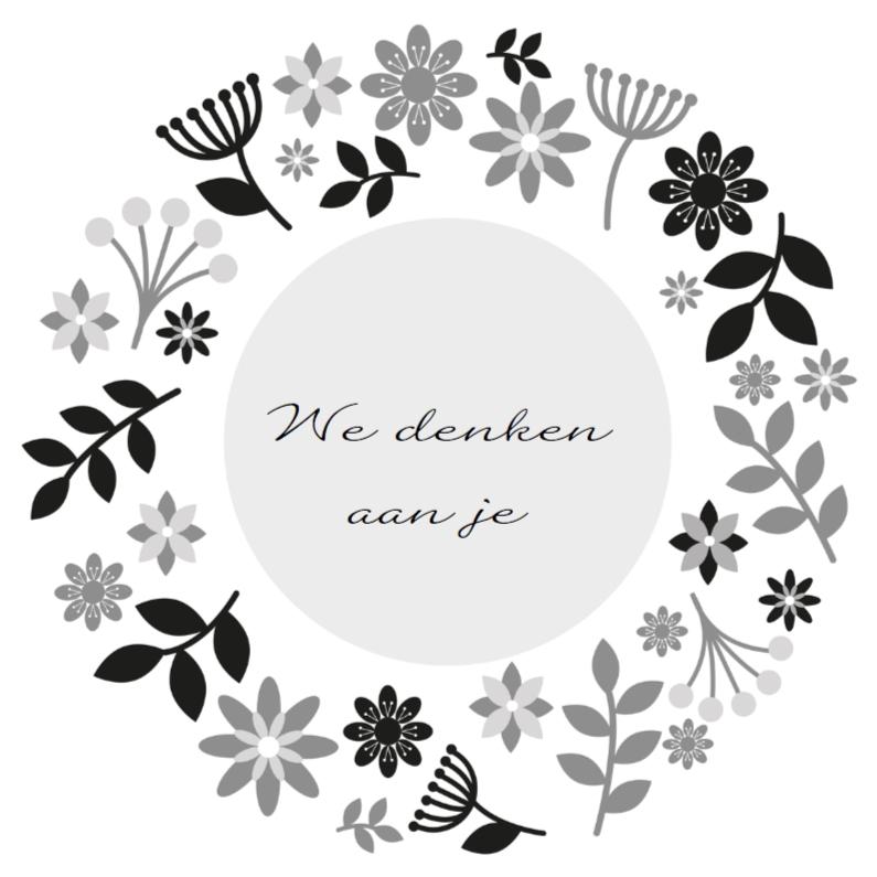 Condoleancekaarten - Oprechte deelneming bloem 1