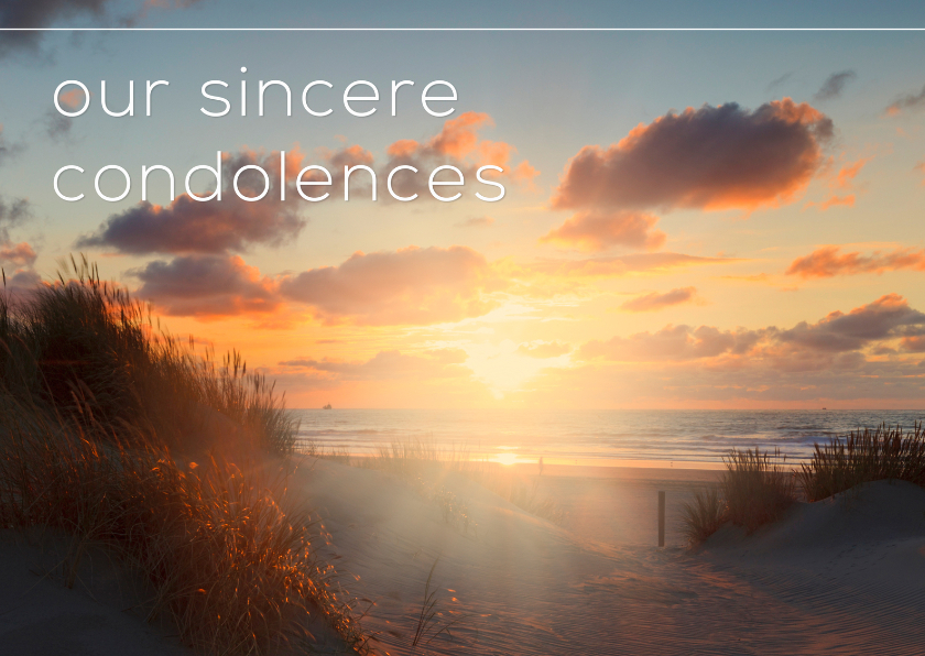 Condoleancekaarten - Our sincere condolences