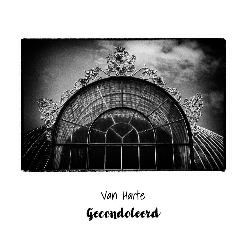 Condoleancekaarten - Rouw Victoriaanse Kas zww - OT