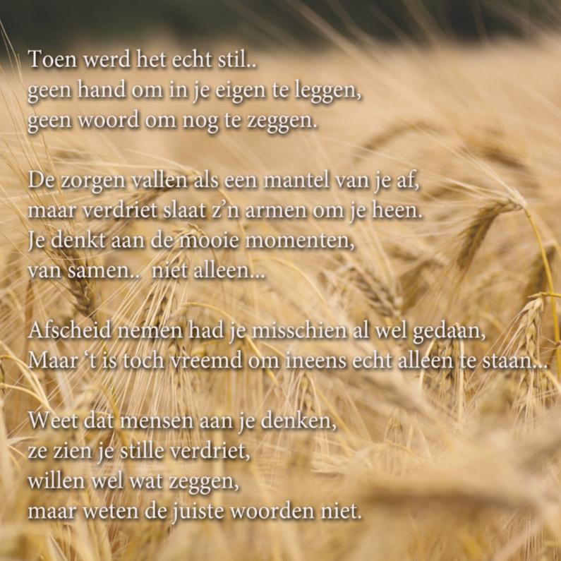 Condoleancekaarten - rouwkaart gedicht bij ziekte