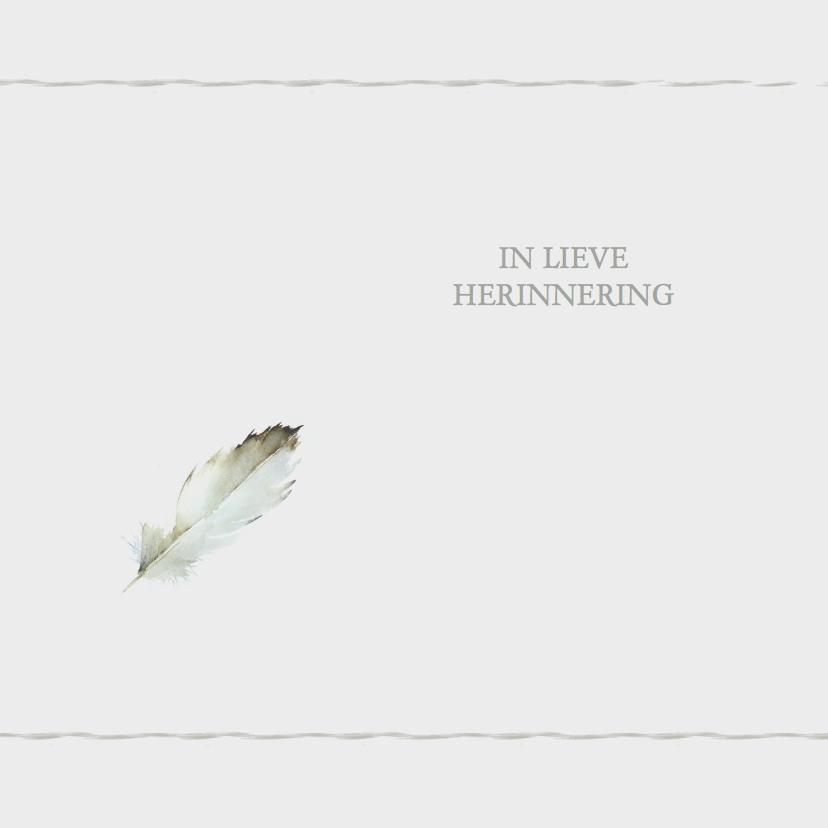 Condoleancekaarten - Rouwkaarten Veertje YO