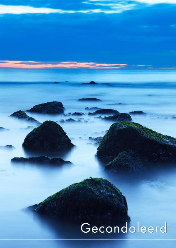Condoleancekaarten - Rustige zee