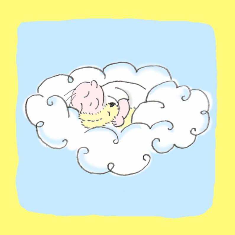 Condoleancekaarten - slaap zacht op geel