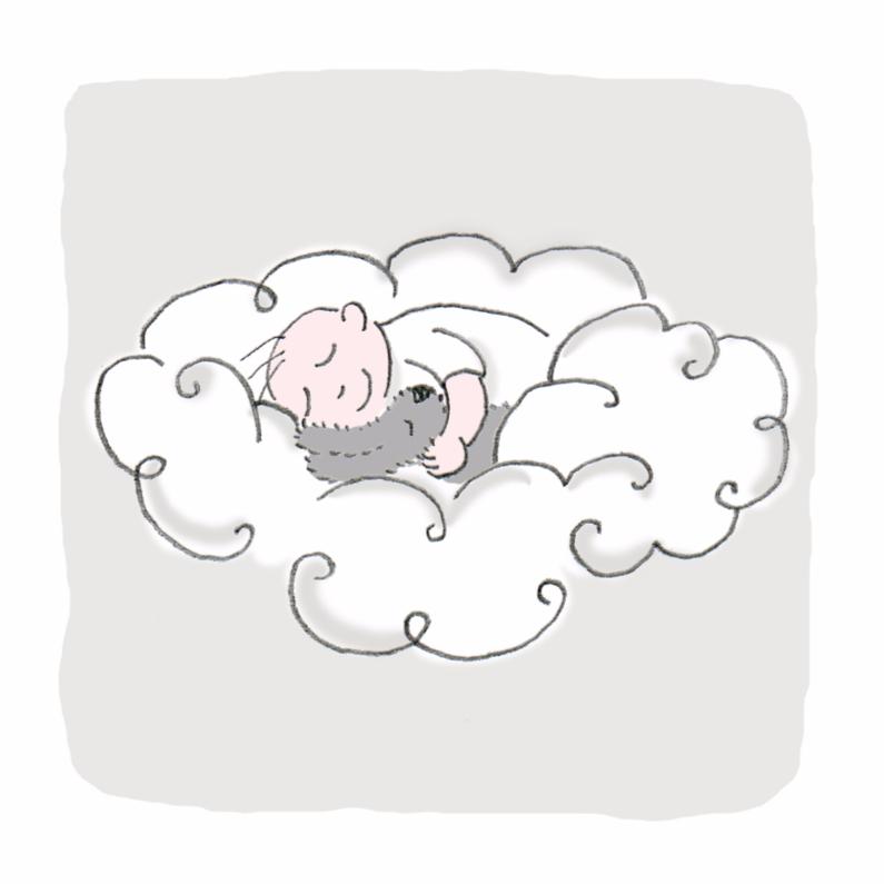 Condoleancekaarten - slaap zacht op grijs