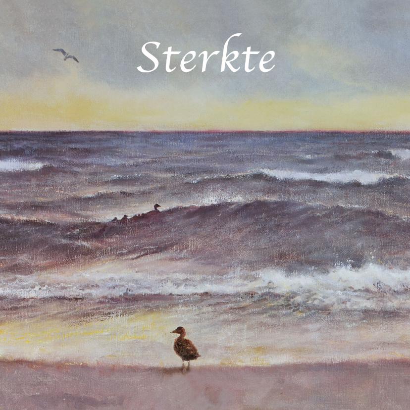 Condoleancekaarten - Sterkekaart Zeezicht