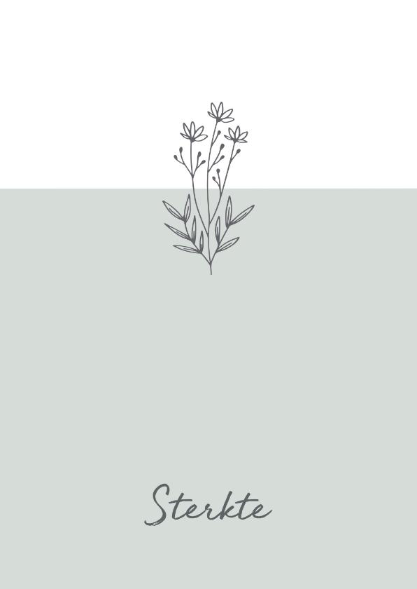 Condoleancekaarten - Sterkte - bloemen veel sterkte