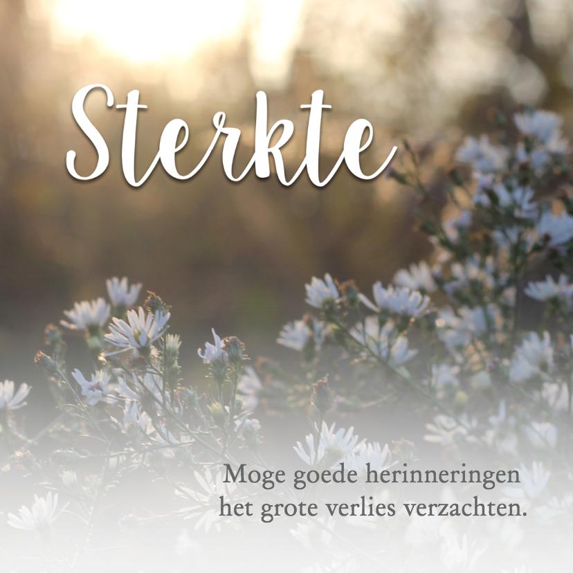 Condoleancekaarten - Sterkte met bloemen / condoleance