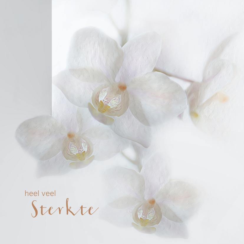 Condoleancekaarten - Sterkte met orchideeën