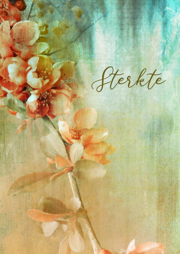 Condoleancekaarten - Sterktekaart bloementak painting