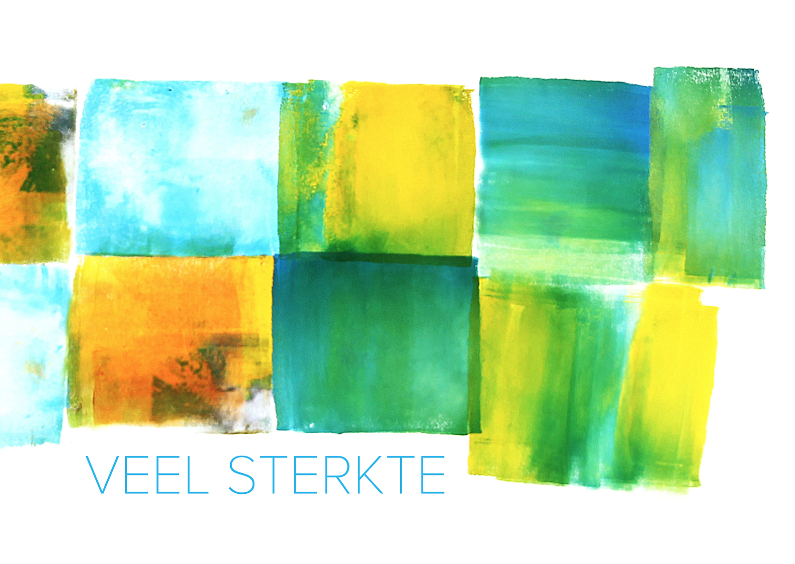 Condoleancekaarten - Veel sterkte - abstract