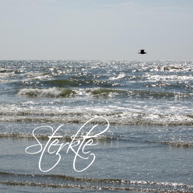 Condoleancekaarten - vogel aan horizon boven zee