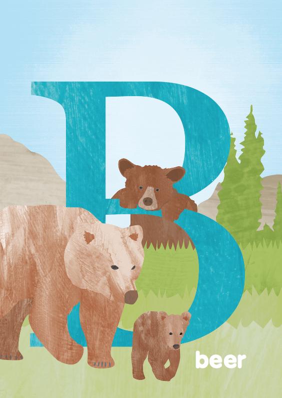 Dierenkaarten - B van beer