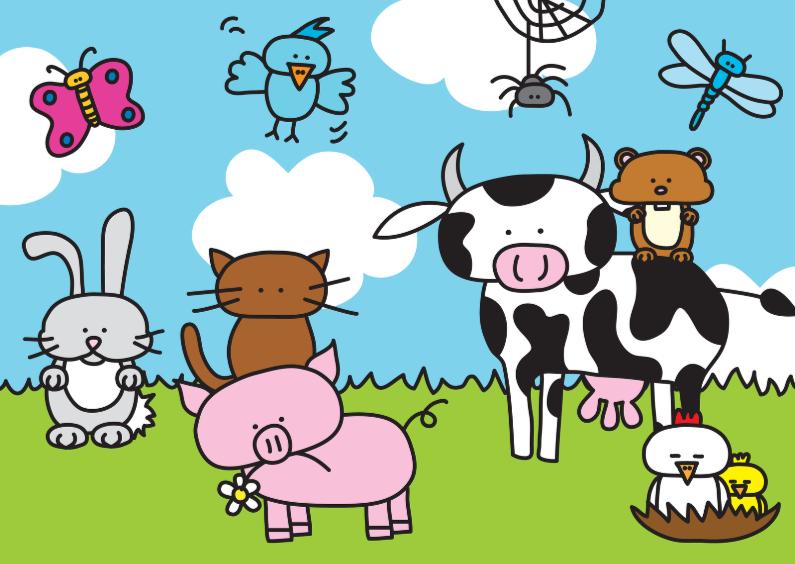 Dierenkaarten - Dierenkaart Boerderij
