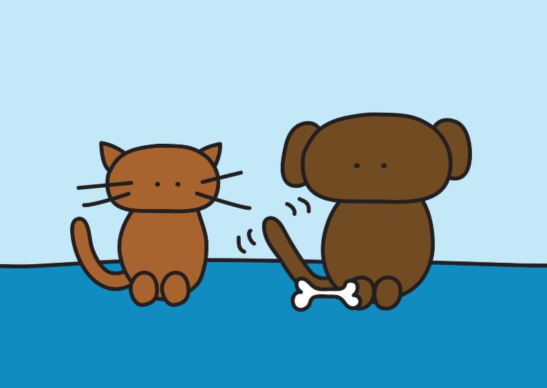 Dierenkaarten - Dierenkaart Kat en Hond