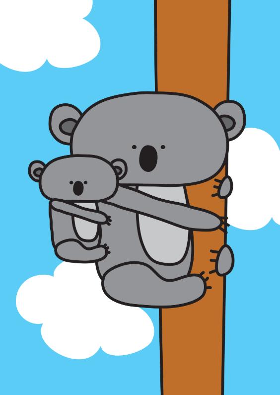 Dierenkaarten - Dierenkaart Koala